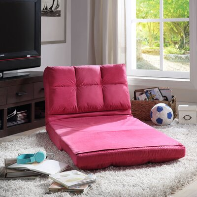 Loungie Micro-Suede 5-Position Adjustable Convertible Flip Chair Color: Pink
