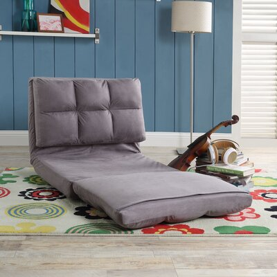 Loungie Micro-Suede 5-Position Adjustable Convertible Flip Chair Color: Grey