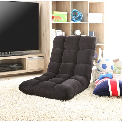 Loungie Supersoft Folding Adjustable Lounger Game Chair Color: Black
