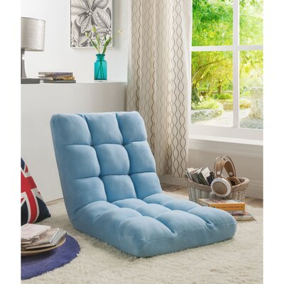 Loungie Supersoft Folding Adjustable Lounger Game Chair Color: Blue