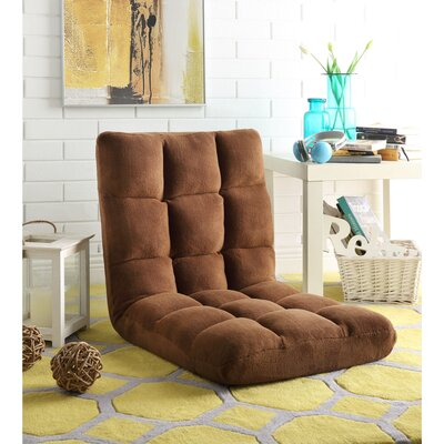 Loungie Supersoft Folding Adjustable Lounger Game Chair Color: Brown