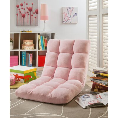 Loungie Supersoft Folding Adjustable Lounger Game Chair Color: Pink