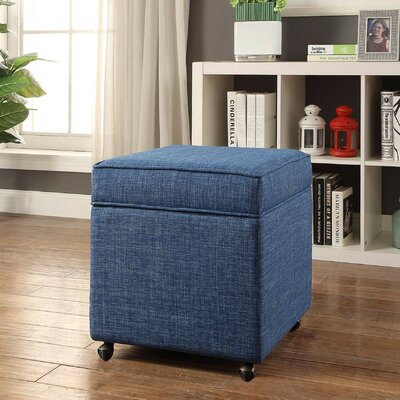 Michael Ottoman Upholstery: Blue