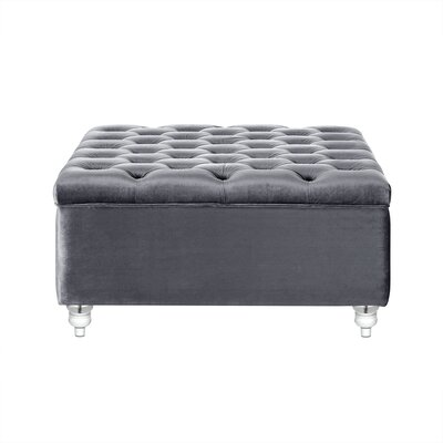 Bonview Oversized Button Tufted Storage Ottoman Upholstery: Grey