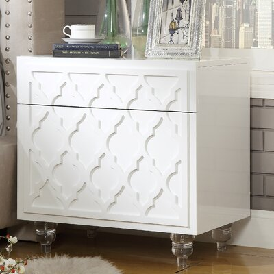 Fiora 2 Drawer Nightstand Finish: White