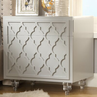 Fiora 2 Drawer Nightstand Finish: Light Gray