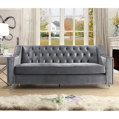Marlowe Tufted Sofa Upholstery: Gray