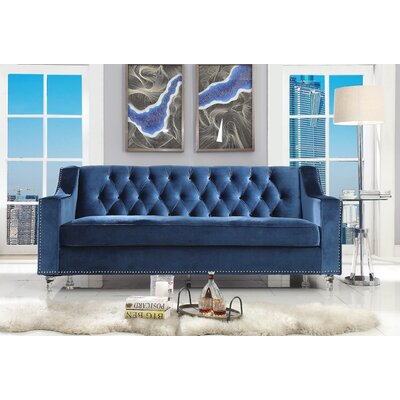 Marlowe Tufted Sofa Upholstery: Blue