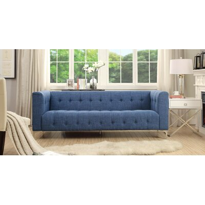 Seurat Tufted Chesterfield Sofa Upholstery: Blue
