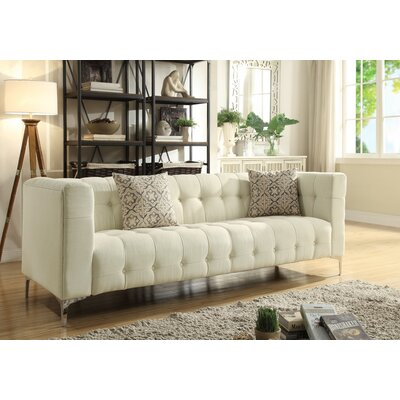 Seurat Tufted Chesterfield Sofa Upholstery: Beige