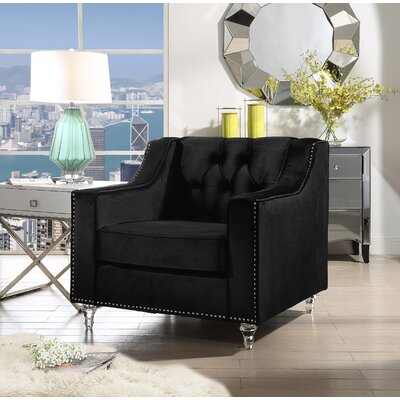 Marlowe Tufted Armchair Upholstery: Black