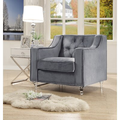 Marlowe Tufted Armchair Upholstery: Gray