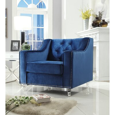 Marlowe Tufted Armchair Upholstery: Blue