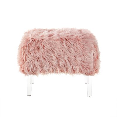 Bosarge Ottoman Upholstery: Rose