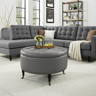 Elizabeth Ottoman Upholstery: Gray