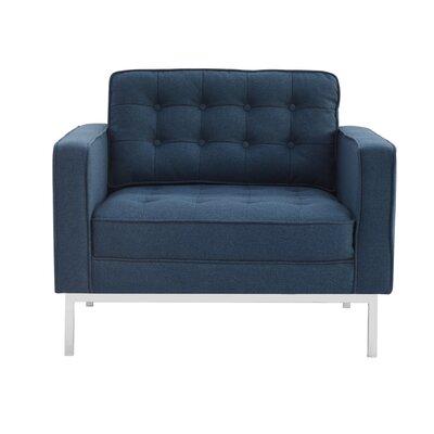 Abinash Armchair Upholstery: Navy