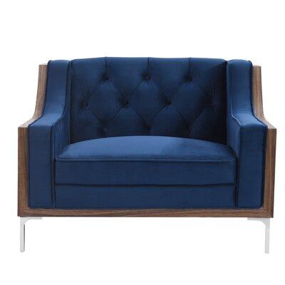 Crouse Armchair Upholstery: Navy