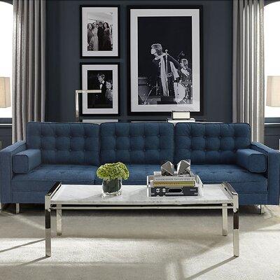 Abinash Sofa Upholstery: Navy