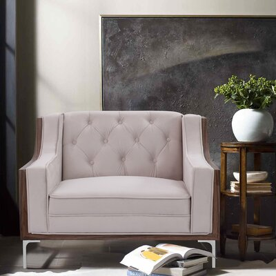 Crouse Armchair Upholstery: Cream/White