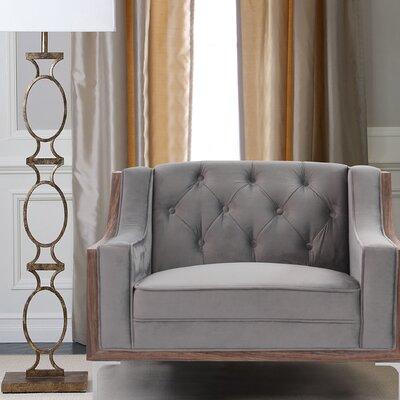 Crouse Armchair Upholstery: Light Gray