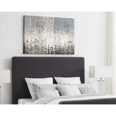 Ranstead Upholstered Panel Headboard Size: Queen, Upholstery: Charcoal