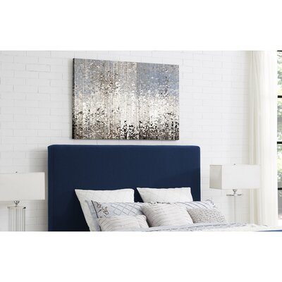 Ranstead Upholstered Panel Headboard Size: Queen, Upholstery: Denim