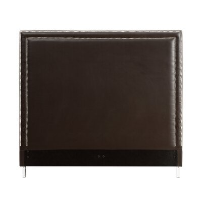 Dahms Nailhead Trim Upholstered Panel Headboard Size: King, Upholstery: Expresso