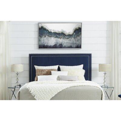 Dahms Upholstered Panel Headboard Size: King, Upholstery: Velvet Navy