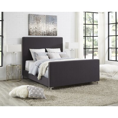 Ranstead Upholstered Panel Bed Color: Charcoal, Size: King