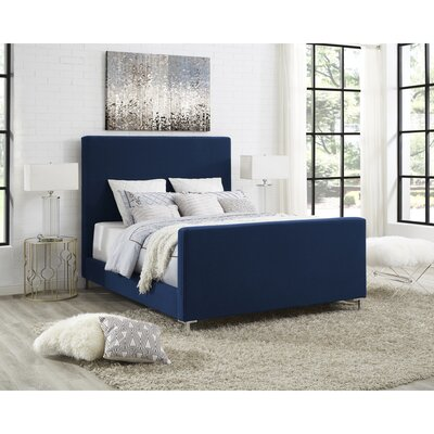 Ranstead Upholstered Platform Bed Color: Denim, Size: King