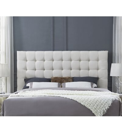 Randy Upholstered Panel Headboard Size: Queen, Upholstery: Linen Beige