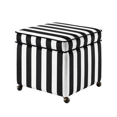 Michael Storage Ottoman Upholstery: Zebra, Fabric: Velvet