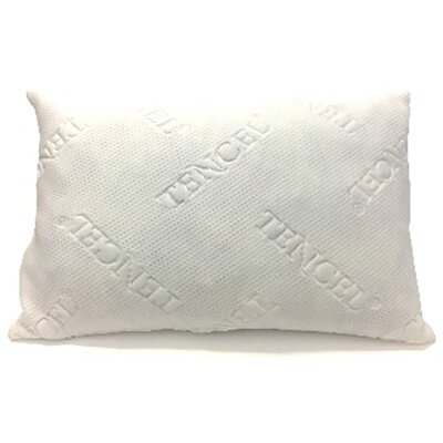 Shredded Tencel Memory Foam Pillow Size: Standard