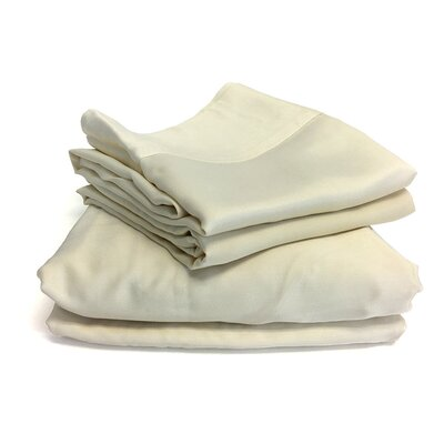 Luxury Sheet Set Color: Ivory, Size: King