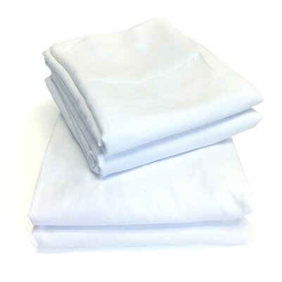 Microfiber Sheet Set Color: White, Size: Queen
