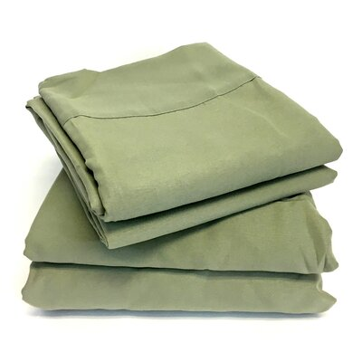 Microfiber Sheet Set Color: Sage, Size: Full