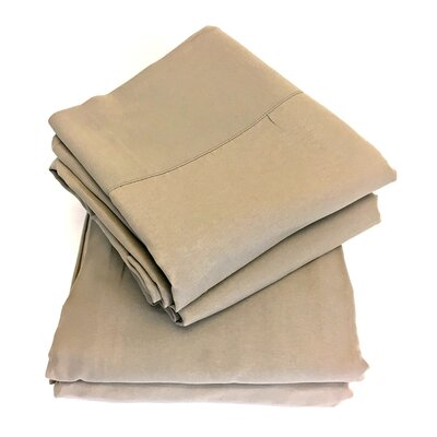 Luxury Sheet Set Color: Silver, Size: Queen