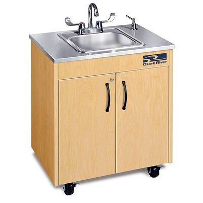 Ozark River Portable Sinks Silver Lil Premier 1 Finish: Maple