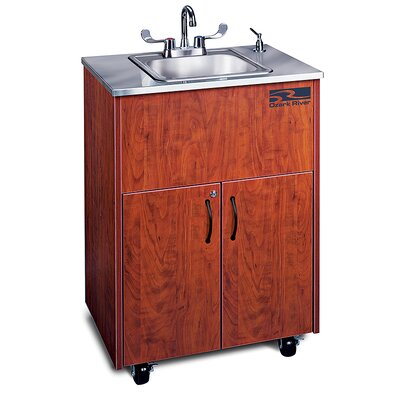 Ozark River Portable Sinks Silver Premier 1 Finish: Cherry
