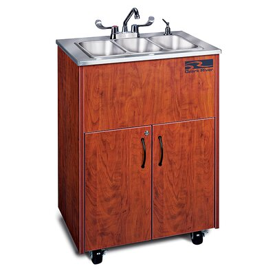 Ozark River Portable Sinks Silver Premier 3 Finish: Cherry