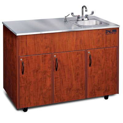 Ozark River Portable Sinks Silver Advantage 1 Finish: Cherry, Top Finish: Stainless Steel