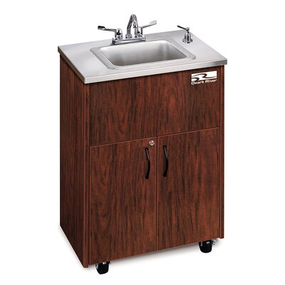 Premier Series 26 x 18 Single 1D Hand-Wash Sink Cabinet Finish: Mahogany