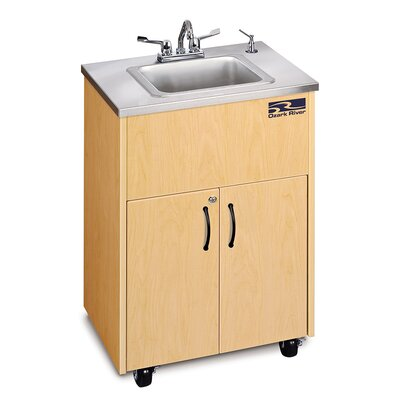 Premier Series 26 x 18 Single 1D Hand-Wash Sink Cabinet Finish: Maple