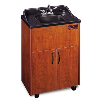Premier Series 26 x 18 Single Hand-Wash Sink Cabinet Finish: Cherry
