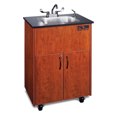 Premier Series 26 x 18 Single 1D Hand-Wash Sink Cabinet Finish: Cherry