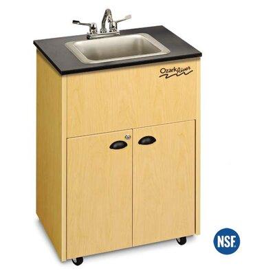 "Ozark River Portable Sinks Premier 26"" x 18"" Single Bowl Portable Handwash Station with Storage Cabinet - Finish: Maple at Sears.com"