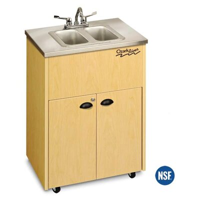 Ozark River Portable Sinks Silver Premier 2 Stainless Steel Portable Double Hand-Washing Station NSF Certified - Finish: Maple at Sears.com