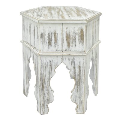 Wood Moroccan Inspired End Table Color: Natural
