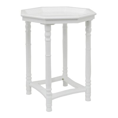 Wood End Table Finish: White