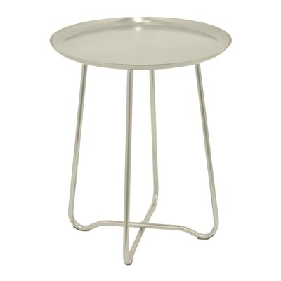 Round Metal End Table Finish: Silver